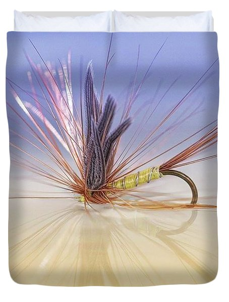 A Trout Fly (greenwell's Glory) Duvet Cover by John Edwards