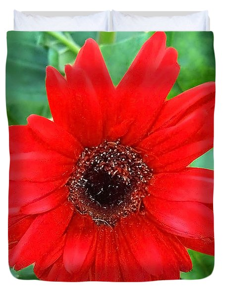 Duvet Cover featuring the photograph A True Red by Sandi OReilly