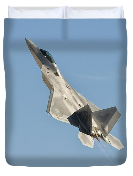 A U.s. Air Force F-22 Raptor Takes Duvet Cover by Giovanni Colla