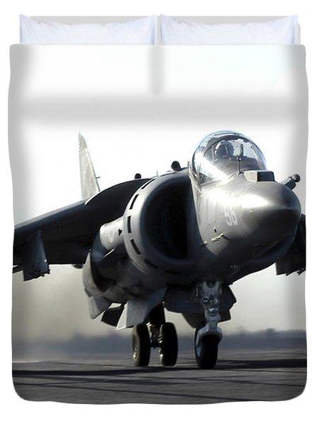 A U.s. Marine Corps Av-8b Harrier Duvet Cover by Stocktrek Images