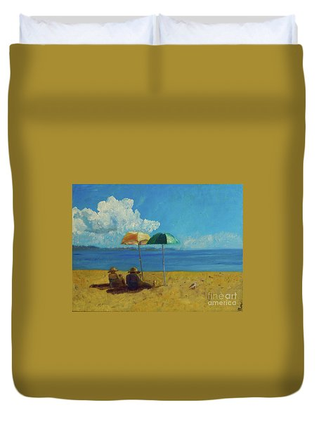 A Vacant Lot - Byron Bay Duvet Cover