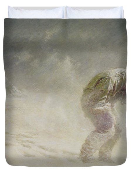A Very Gallant Gentleman Duvet Cover by John Charles Dollman