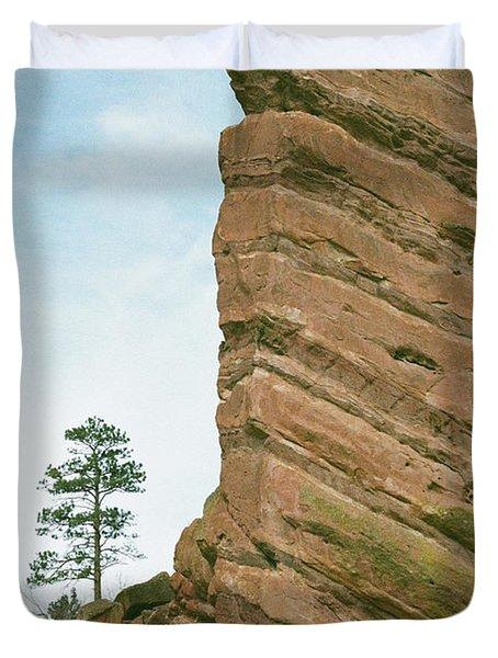 A Very Tall Rock Duvet Cover