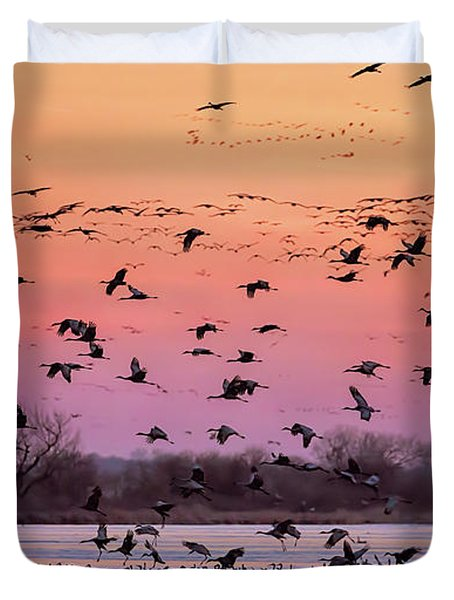 A Vibrant Evening Duvet Cover