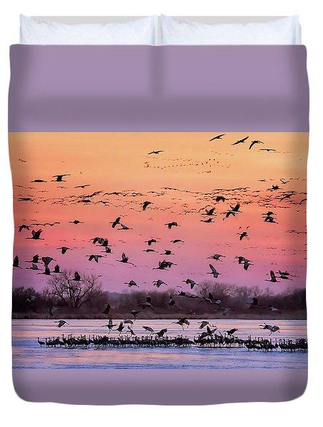 A Vibrant Evening Duvet Cover