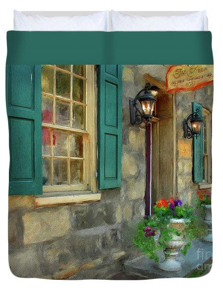 A Victorian Tea Room Duvet Cover