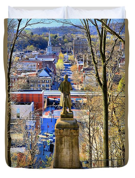 Duvet Cover featuring the photograph A View From College Hill by DJ Florek