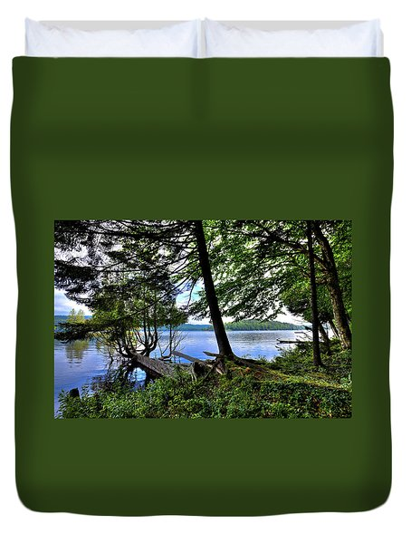 Duvet Cover featuring the photograph A View From Covewood by David Patterson