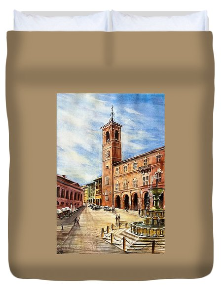 A View From Fabriano Duvet Cover