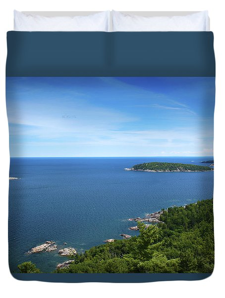 A View From Sugarloaf Mountain Duvet Cover