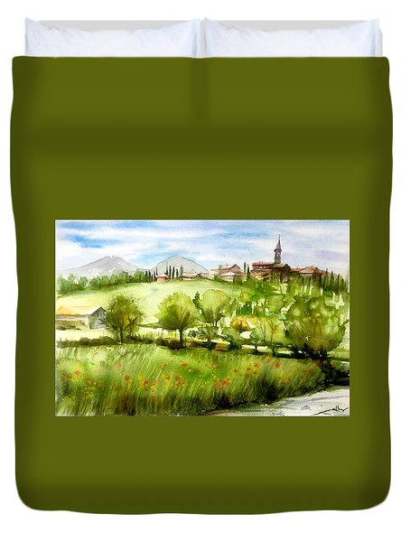 A View From Tuscany Duvet Cover