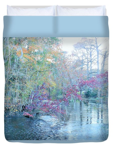 A View Of Autumn Duvet Cover by Kay Gilley