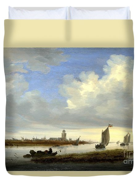 A View Of Deventer Seen From The North-west  Duvet Cover