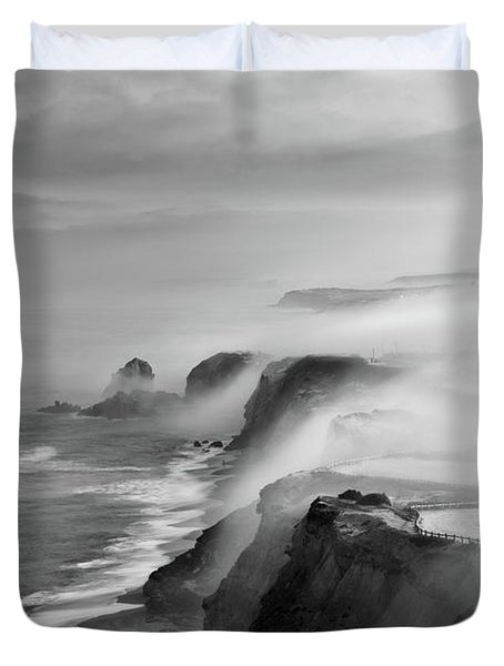 A View Of Gods Duvet Cover by Jorge Maia