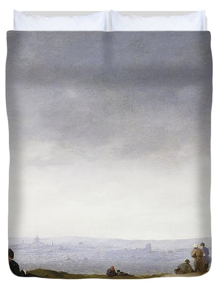 A View Of Paris From Montmartre Duvet Cover