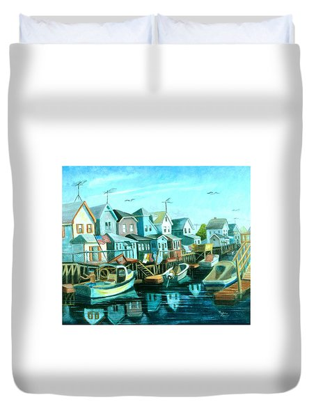 A View Of Ramblesville Duvet Cover