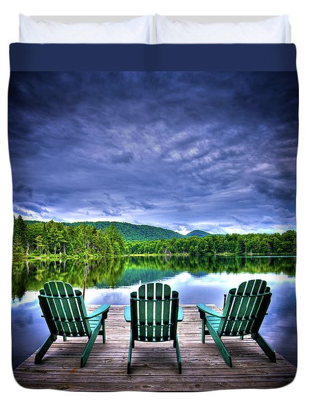 Duvet Cover featuring the photograph A View Of Serenity by David Patterson