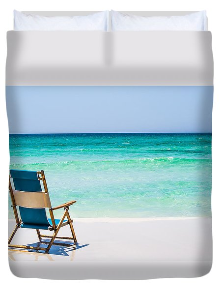 A View Of The Ocean Duvet Cover by Shelby  Young