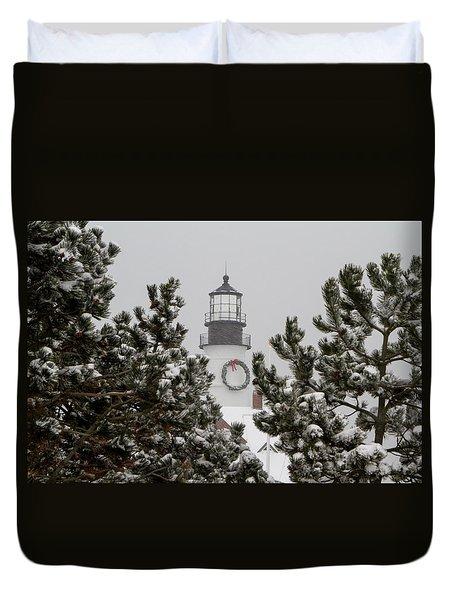 A View Of The Portland Head Light Duvet Cover