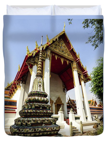A View Of Wat Pho Temple In Bangkok, Thailand Duvet Cover