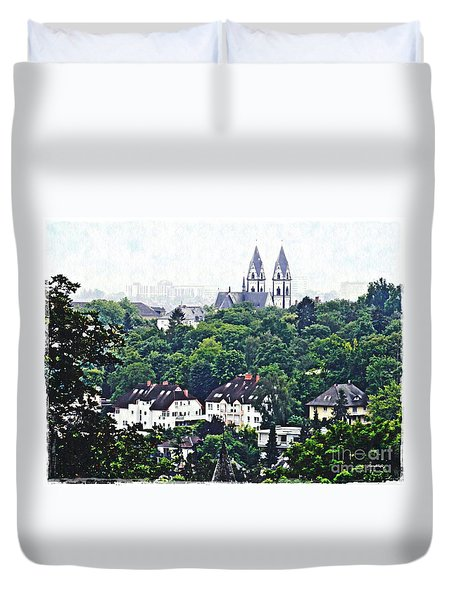 A View Of Wiesbaden Duvet Cover by Sarah Loft