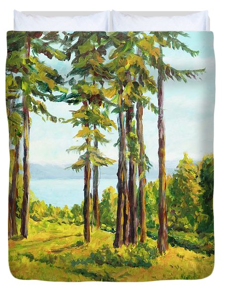A View To The Lake Duvet Cover