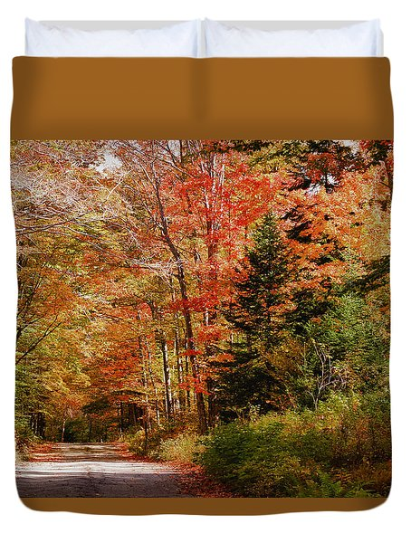 A View Up Jefferson Notch Road Duvet Cover by Jeff Folger