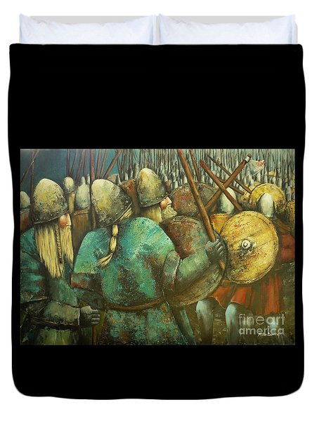 A Viking Skirmish Duvet Cover