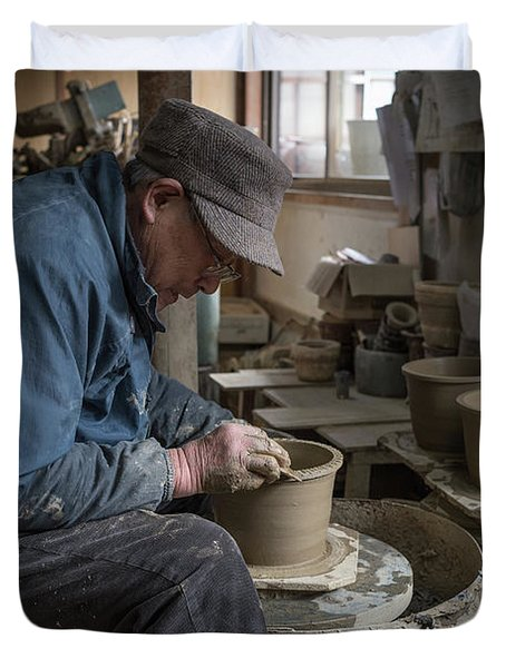 A Village Pottery Studio, Japan Duvet Cover
