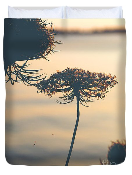 A Vintage Sunset Duvet Cover by Rebecca Davis