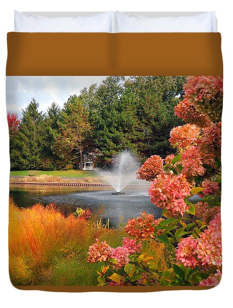 A Vision Of Autumn Duvet Cover by Teresa Schomig