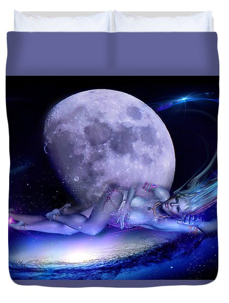 A Visit From Venus Duvet Cover