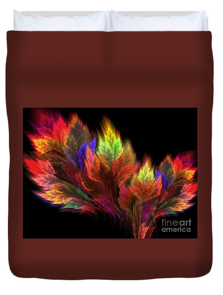 Duvet Cover featuring the digital art A Visit In The Paradise by Michal Dunaj