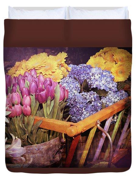 A Wagon Full Of Spring Duvet Cover