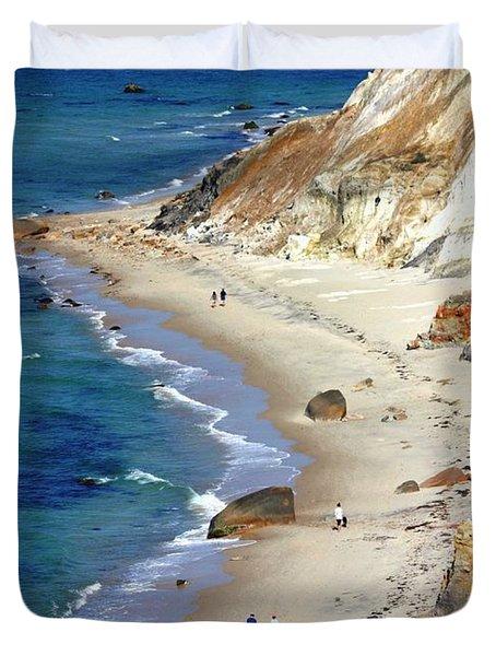 A Walk Along Aquinnah Beach Duvet Cover by Carol Groenen