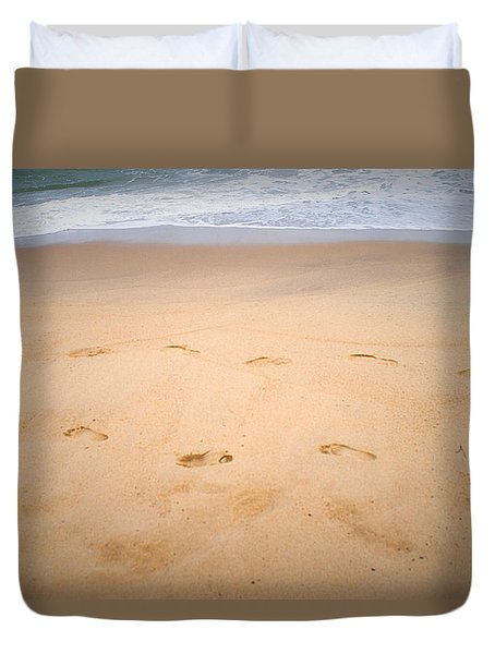 A Walk Along The Beach  Duvet Cover