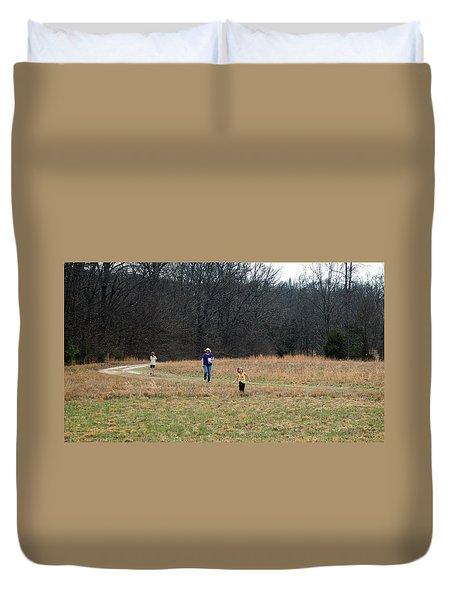 A Walk In A Field Duvet Cover