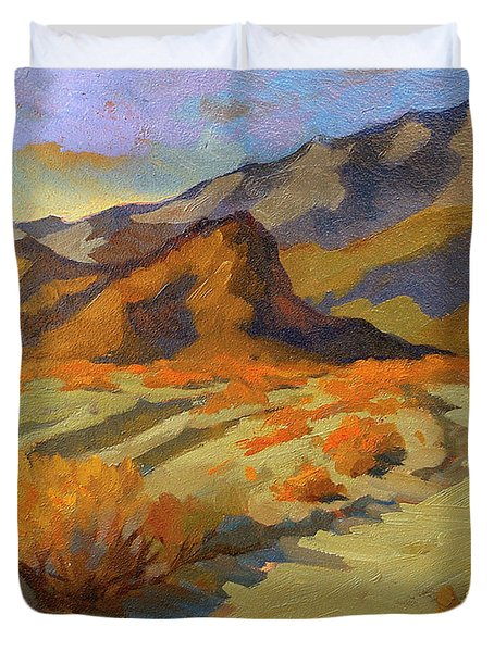 A Walk In La Quinta Cove Duvet Cover by Diane McClary