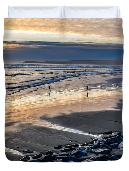 A Walk In The Evening Duvet Cover