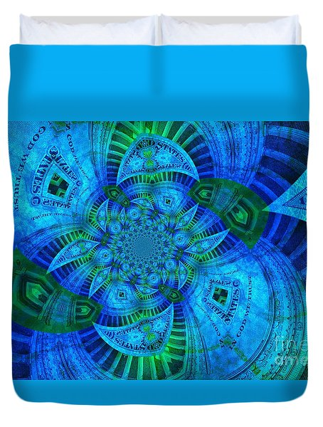 A Walk In The Gallery Duvet Cover by Chad and Stacey Hall