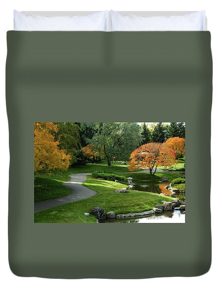 A Walk In The Garden Duvet Cover