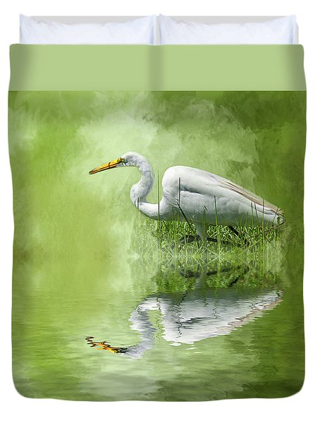 A Walk In The Marsh Duvet Cover by Cyndy Doty