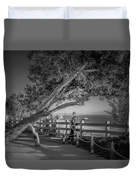 A Walk In The Park B And W Duvet Cover