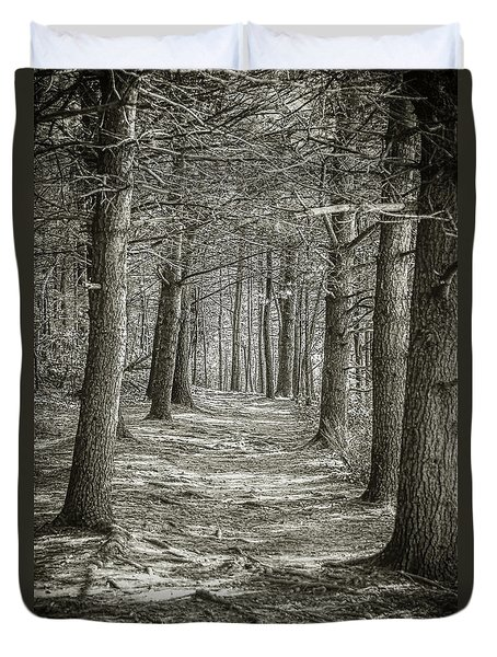 A Walk In Walden Woods Duvet Cover