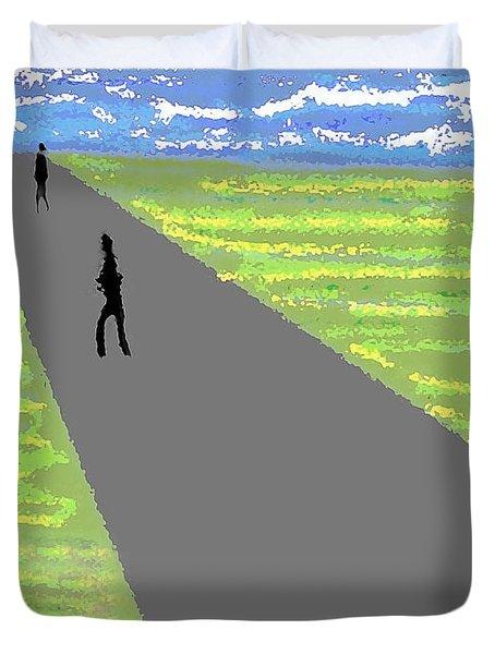 A Walk Duvet Cover