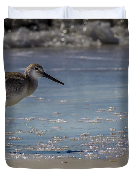 A Walk On The Beach Duvet Cover by Marvin Spates