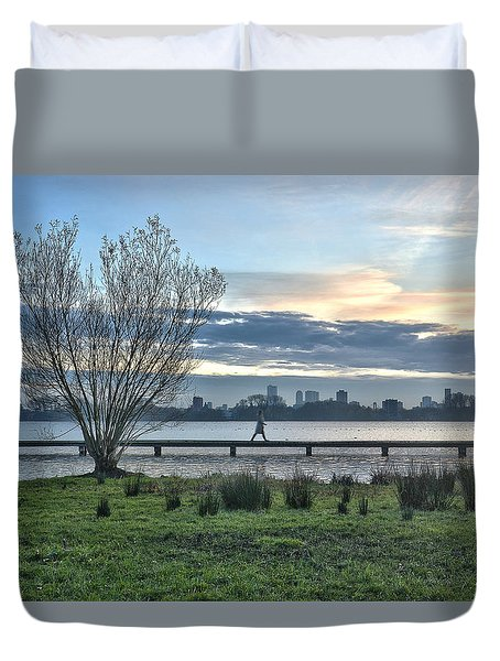 A Walk Through The Lake Duvet Cover