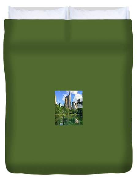 A Walk Thru Central Park Duvet Cover