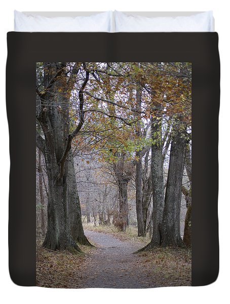 A Walk To Remember Duvet Cover by Heidi Poulin