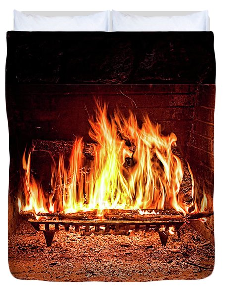 A Warm Hearth Duvet Cover